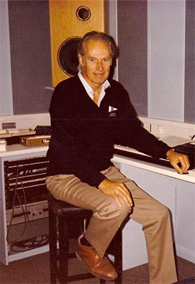Sir George Martin in Studio 5, AIR Studios, Oxford Street, 1987